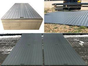 10 Stück Fahrplatten je max. 10 T. Druck LDPE Baustelle Event Wiese Parkplatz