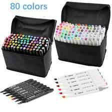 80 Colors Artist Dual Head Sketch Markers Set For School Drawing Sketch
