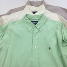 Lot of 3 RALPH LAUREN Yarmouth 16 1/2 Pony Large Dress Shirt Long Sleeve Oxford