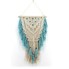 Boho Handmade Tapestry Cotton Woven Tassel Macrame Knitted Rope Wall Hanging