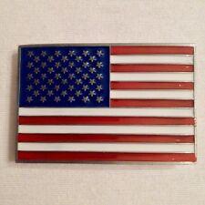 Boucle de ceinture USA / Etats Unis / Ceinturon / Drapeau / 10 cm X 7 cm