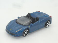 Nuevo 1:64 Sin Caja Ferrari 458 Spider Metálico Azul V8 n Speciale Scuderia 430