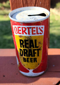 Oertels Real Draft Beer Zip Top from Louisville, KY.  EMPTY