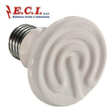 Lamp E27 D.60 MM Ceramics Heater Heat For Reptiles Animals 50W