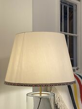 A Pair Of Large (50cm) Stone Taj Silk Lampshades By Pooky