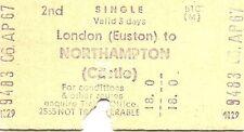 B.T.C. Edmondson Multiprinter Ticket - London Euston to Northampton Castle