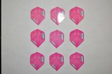 (9) Winmau Rhino Long Life Standard Extra Thick Dart Flights - Fancy Pink - NEW