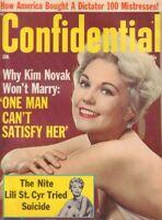 Confidential January 1965 Marilyn Monroe Kim Novak Lili St. Cyr 013119DBE2