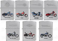 Zippo Harley Davidson HD 7 Motorcycle Lighter Set High Polish Chrome RARE *NEW*