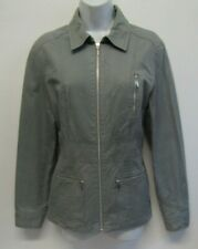 NEXT WOMENS CANVAS COTTON ZIP UP JACKET SIZE 12 GREEN