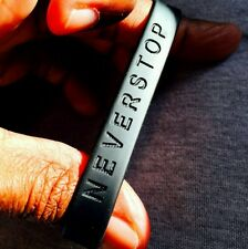 NEVERSTOP Never Stop 100%Silicone Wristband Brand New! Free Shipping w Tracking!