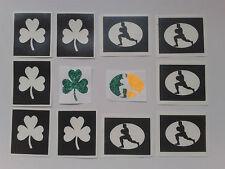 Ireland rugby glitter tattoo set inc. stencils + glue + glitter  6 Nations Irish