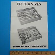 Vintage Buck Knives Brochure Price Guide (b)