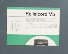 ROLLEICORD VB BROCHURE, UNDATED, 2 PG./133613