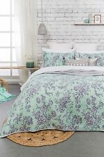 3 Pcs May Shabby Chic Cotton Embossed QUEEN KING Coverlet Bedspread Blanket Set