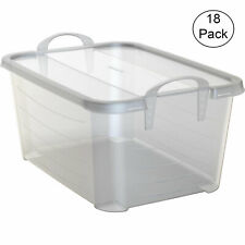 Life Story Clear Stackable Closet Organization & Storage Box, 55 Quart (18 Pack)