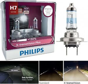 Philips X-Treme Vision Plus 130% H7 55W Two Bulbs Head Light High Beam Upgrade