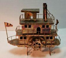 "Music Box River Paddle Boat Plays ""Moon River"" Metal"