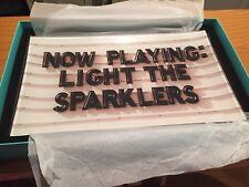 Kate Spade New York Snap Happy ~ Now Playing Sparklers Rectangular Tray ~ NIB