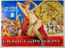 CALIGULA AND MESSALINA 1982 Gino Turini Betty Roland UK QUAD POSTER