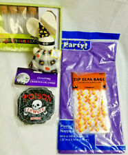 Halloween Party Coasters Bags Favors Doll Table-Cover Orange Purple Lot of 5