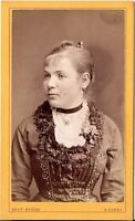 A. Dunka CDV photo Damenportrait - Novy Bydzov 1880er