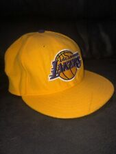 Los Angeles Lakers NBA Cap New Era 59Fifty Fitted Hat Yellow 7 1/2