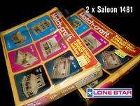 2 Saloon Lone Star Match-Craft Modelo Conjunto Complete Juego 1975 Sellado Ovp