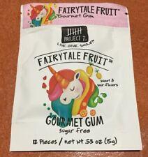 12 Project 7 Fairytale Fruit 12 Piece Gourmet Gum Packs Sweet Sour Sugar Free