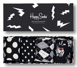 Happy Socks - 4er Pack Gift Box, Geschenkbox - Black And White - schwarz / weiß