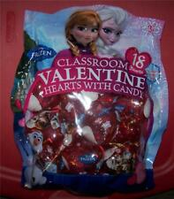 Disney Frozen Classroom Valentine Hearts with Candy 18 Filled Heart Containers