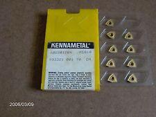 "K02301204, GR; KC810 "" KENNAMETAL ''DRILLING/MILLING INSERTS,  9 PIECES"