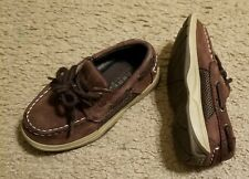 Sperry Toddler Boys Boat Deck Shoes Sz 9M Brown Leather