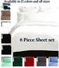 6 PIECE LUXURY COMFORT ULTRA SOFT SERIES DEEP POCKET WRINKLE FREE BED SHEET SET