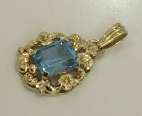 14k solid yellow gold & Spinel pendant 3.33g