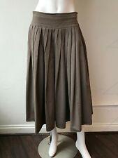 Sophie D'Hoore High Waist Full Skirt Size 38/4 Brown Cotton