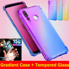 Tempered Glass + Case For Huawei P30 P40 Lite Pro Shockproof TPU Silicone Cover