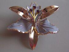 Darling Large Mauve Enamel & Amethyst Glass Lily Brooch