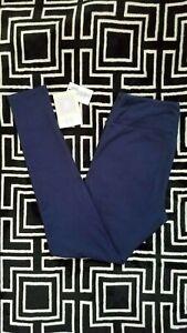OS LuLaRoe One Size Leggings Beautiful Solid Medium Blue NWT 31