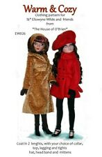 "Ew026 Warm & Cozy coats + pattern for 16"" Ellowyn Wilde, Prudance & Amber"