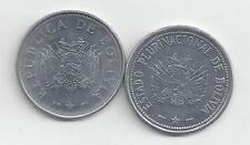 2 NICE 20 CENTAVO COINS from BOLIVIA DATING 2008 & 2010