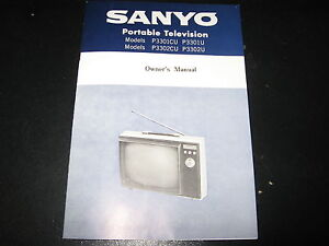 Sanyo TV 1969 Owner's Manual w. Schematic. P3301CU P3302U Used Good Condition