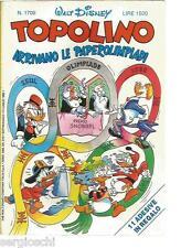 TOPOLINO LIBRETTO 1705- 31  / 7  / 1988 - WALT DISNEY - GADGET - CON FIGURINE