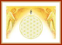 Energie Bild - Schwingungsbild - Die Blume des Lebens mit Erzengel Metatron