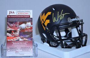 Will Grier Signed Autograph West Virginia Mini Helmet Cowboys JSA WPP147864 WVU