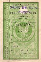 II Guerra Mundial - Minist. de la - Tarjeta Cumpleaños Ferrocarril para