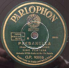 """RARE 78RPM 10"""" PARLOPHON NINO FONTANA PAESANELLA / SCRIVIMI ORCHESTRA CETRA"""