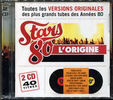 STARS 80 L'ORIGINE 40 TITRES - COMPIL 2 CD NEUVE SOUS CELLO NEW SEALED