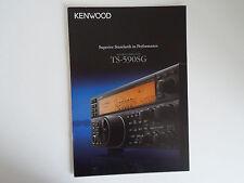 KENWOOD TS-590SG (GENUINE BROCHURE ONLY)............RADIO_TRADER_IRELAND.