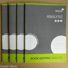 NEW - 4 x A4 BOOK KEEPING ANALYSIS - Accounts Office Home Cash Ledger Books x 4